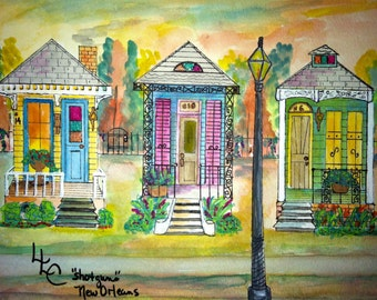 New Orleans Triple Shotgun Houses 1