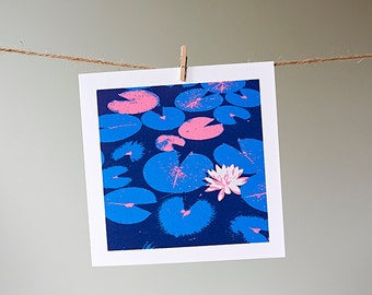 Lily Pond greetings card