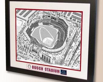 Busch Stadium Art, home of the St. Louis Cardinals