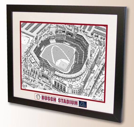 Busch Stadium Art Home Of The St Louis Cardinals