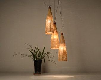 Giant Bottle Shape Bamboo And Wood Pendant Lamp   Ceiling Lamp   Hanging  Lamp   Lamp