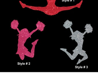 Cheerleader You Choose Style Car Decal Sticker