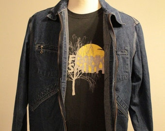 Vintage Men's Osh Kosh B'Gosh 1960's Denim Chore Jacket. Men's Vintage Denim Jacket.