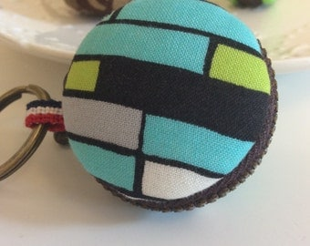 Macaroon keychain / Macaron keychain/ Macaron coin purse / Macaroon coin purse  (blue blocks)