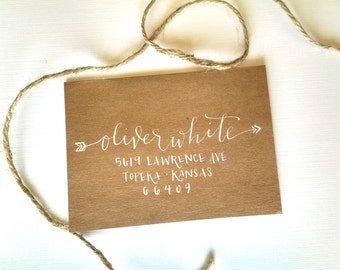 Arrow Style; Wedding Envelope Calligraphy; Hand Addressed