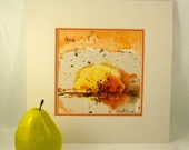 Original Abstract Landscape Watercolor Painting Modern Fine Wall Art Harvest Sunset Office Decor, Western Dining Room Art, Colorado Artwork