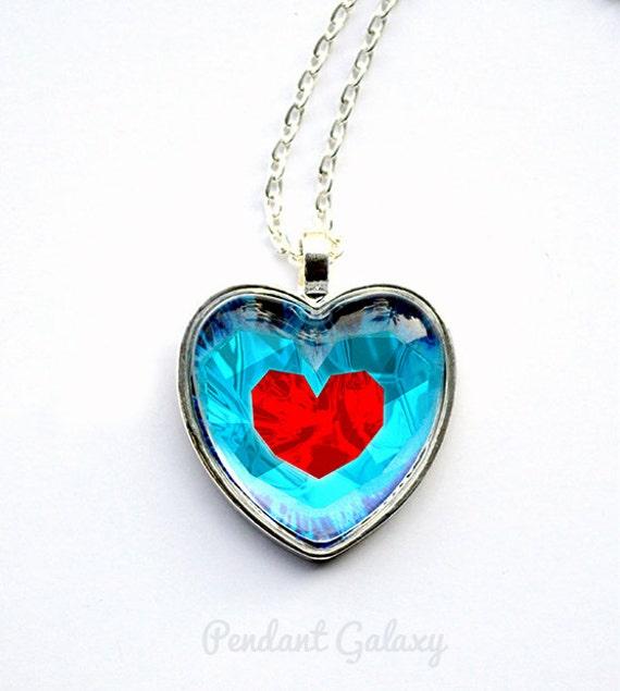 Zelda Heart Container Necklace: Legend Of Zelda Heart Necklace Zelda Heart Necklace Zelda