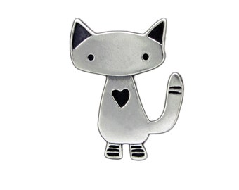 Alley Cat Necklace - Sterling Silver Cat Pendant