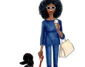 Poodle Proud - Fashion Illustration Print - by Brooke Hagel