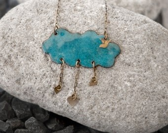 Rain Cloud Necklace - Ps Artisan Jewelry