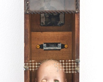 Look At Me Now - Original Mixed Media Assemblage - Curiosity