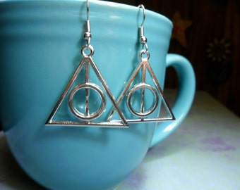 Short Time SALE Deathly Hallows Earrings