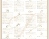 Wedding Seating Chart, Table Seating, Assignments, Reception Tables, Wedding Seating Plan, Wedding Seating Template with Calligraphy
