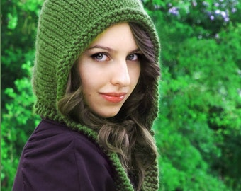 Knitting Pattern - Pixie Hat - Pixie Hood Pattern