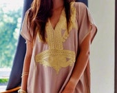 Trendy Beige Marrakech Resort Caftan Kaftan beach cover ups resortwearmaxi dresses birthdays honeymoon maternity gifts
