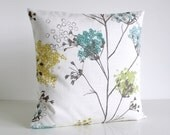 Designer Pillow Cover, Floral Cushion Cover, Flower Pillow Sham, 16 Inch, 16x16 - Wildflowers Fresh