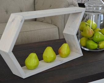 LARGE Geometric Shelf  - Arrow Shelving - Handmade Decorative Shelf  - Rustic - Modern