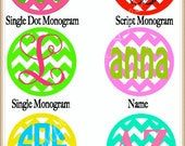 3 + INCH Chevron Vinyl Decal, Choose Your Color