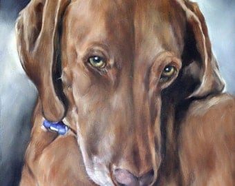 Custom Pet Portrait, Oil Painting, Pet Portrait, Portrait Commission, Animal Portrait, 8x10