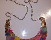 On Hold:  Love and Flowers -  Peter Pan Collar Statement Bib Necklace