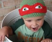 Teenage Mutant Ninja Turtle Hat EASY Crochet PDF Pattern - Infant, Toddler, Child, Adult Sizes. Sale - Buy 2 patterns, Get 1 FREE.
