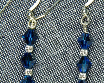Handmade - Earrings with Sterling Silver Earwires and Swarovski Crystals