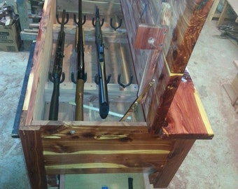 Cedar Gun Chest with Hidden Closures