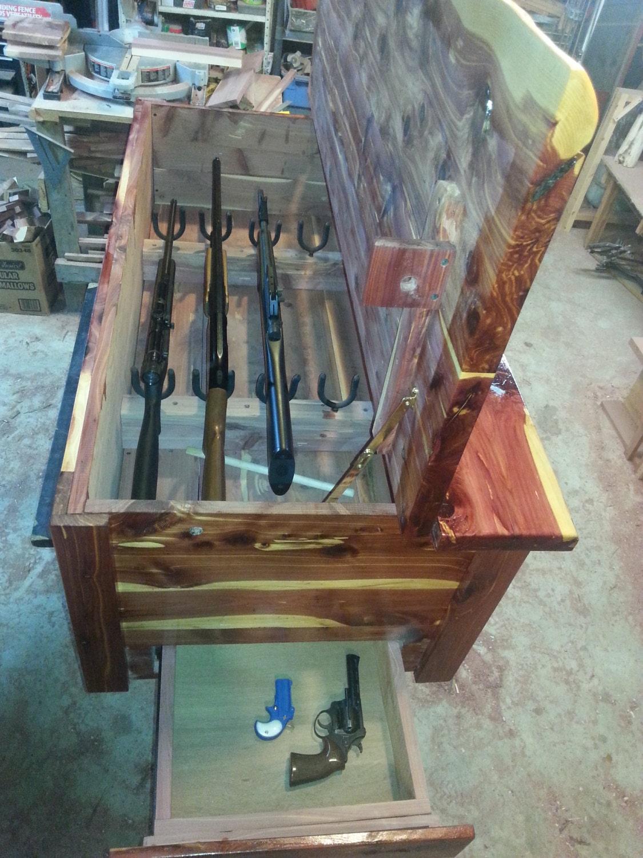 Cedar Gun Chest With Hidden Closures By Barronefarm On Etsy