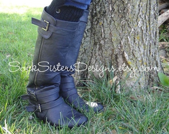 Button Down Boot CUFF for Women - Boot sleeve - wear peeking out like boot socks too...