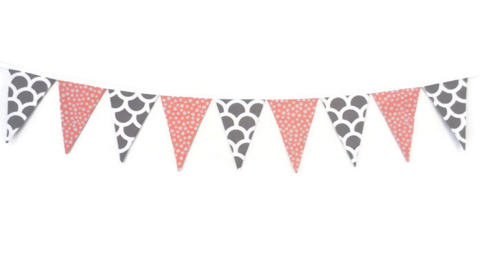 Girls bunting flag banner pennant banner nursery by stardalux - Dessin banderole ...