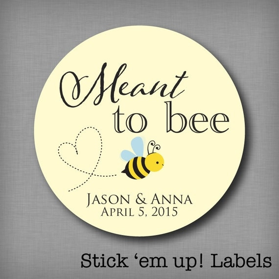 Wedding Gift Sticker Template : ... to Be Stickers Mason Jar Label Personalized Wedding Favor Stickers