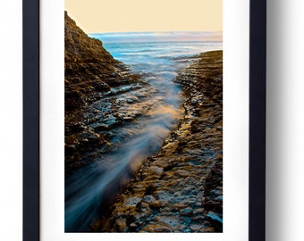 Beach Sunset Fine Art Photography Landscape Nature Santa Cruz Ocean California Wall Art Print Amanda Lackides Photography Canvas Print