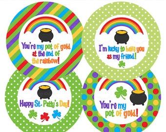 st. patrick's day favor tags labels digital printable irish - St. Patrick's Day Tags Printable