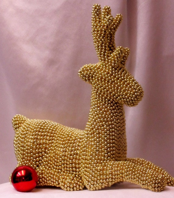 Christmas reindeer gold centerpiece