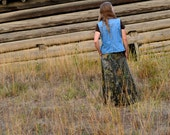 Long Hunting Camo Skirt - Custom - Made in USA - COTTON