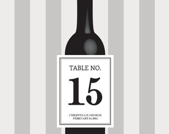 Wine Label Table Number, Wedding Wine Label, custom wine label, Personalized, Label, Place Cards, Sticker, Party, Favor, Decoration, Decor