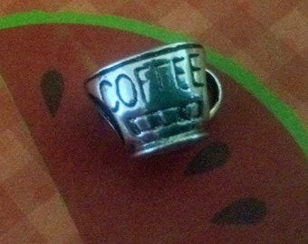 Coffee charm,bracelet charms, european charm beads, charms for bracelet, coffee,