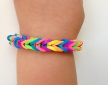 Little girl bracelet 69- little girl fashion  rubber bands jewelry for Kids rainbow.