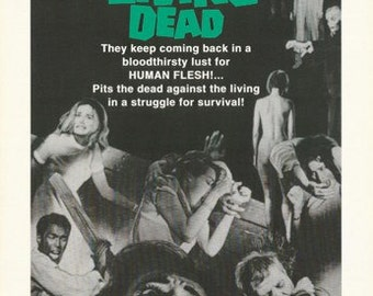 Night Of The Living Dead Rare Poster
