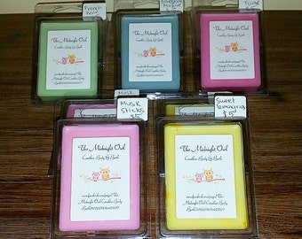100% Soy Wax Clam Melts  Assorted Scents Available!!! Watermelon, Chocolate, Vanilla, Mango etc