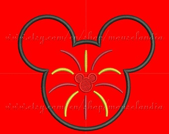 Cute Mister mouse Head Applique Design  3 sizes 4X4, 5X7 and 6X10 Instant Download