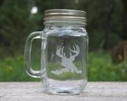 Sale Deer Mason Jar Handle 12 oz