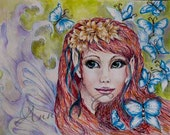 Faerie with Blue Butterflys