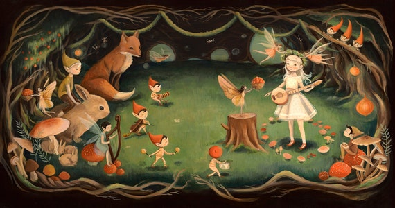 Dream Animals Fairy Dream / Large Print by Emily Winfield Martin