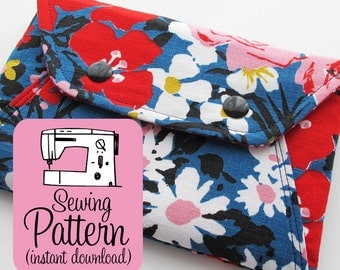 Secret Pocket Envelope Clutches PDF Sewing Pattern | Clutch Pouch Wallet Sewing Pattern PDF