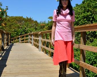 Hemp skirt custom made and hand dyed // organic clothing // eco-friendly // hemp clothing // midi skirt