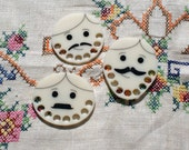 Set of 3 dapper gentleman - Embroidery floss organizer