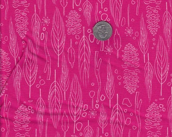 One yard - Nature Walk in Magenta - Michael Miller cotton quilt fabric