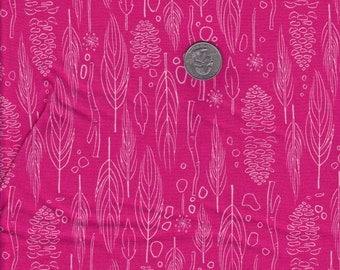Fat quarter - Nature Walk in Magenta - Michael Miller cotton quilt fabric