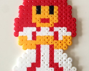 Princess Toadstool from Super Mario Bros. Fuse Bead Pixel Art
